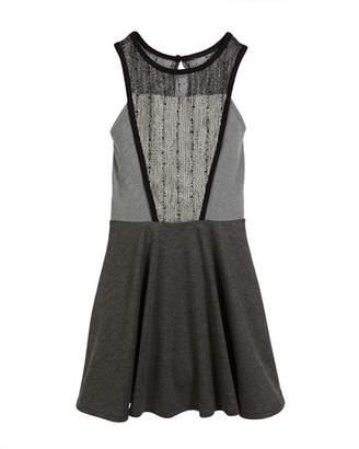 Sally Miller Catee Mesh-Panel Dress, Size S-XL