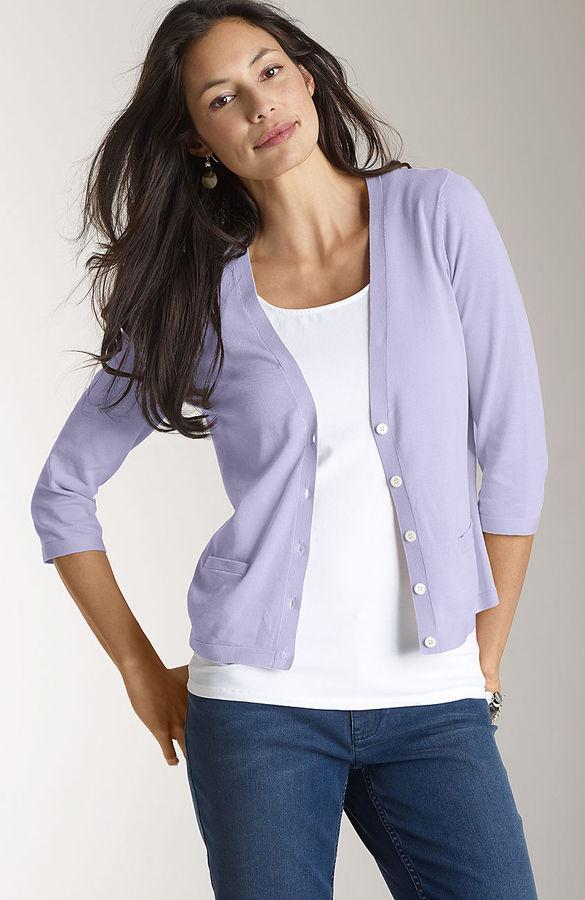J. Jill Fine-gauge cotton summer cardigan