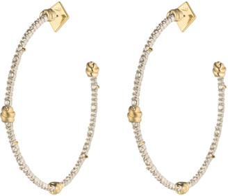 Alexis Bittar Crystal Knot Hoop Earring