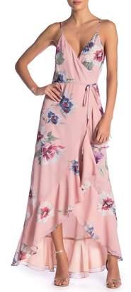 Yumi Kim Cross Roads Floral Ruffled Hi-Lo Maxi Dress