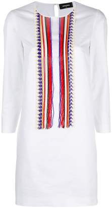 DSQUARED2 fitted kaftan dress