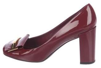 Louis Vuitton Patent Leather Square-Toe Pumps