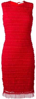 Givenchy ruffle embellished pencil dress