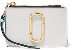 Marc Jacobs Snapshot Color-block Textured-leather Wallet - Ivory