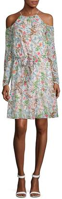 Julia Jordan Women's Floral Cold-Shoulder Dress