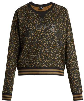 The Upside Leopard Print Camouflage Cotton Sweatshirt - Womens - Khaki