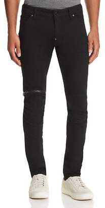 G Star 5620 3D Zip Knee Slim Fit Jeans in Rinsed Black