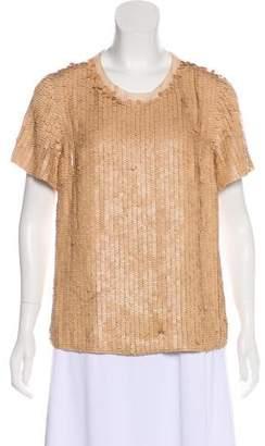 3.1 Phillip Lim Leather-Embellished Silk Top