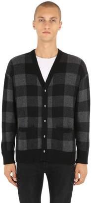 The Kooples Wool Check Cardigan