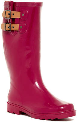 Chooka Top Buckle Solid Waterproof Rain Boot (Women)