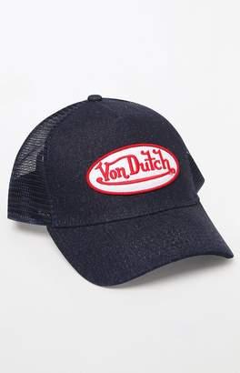 Von Dutch 102 Denim Snapback Trucker Hat