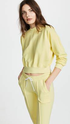 Cotton Citizen The Milan Crop Crew Sweatshirt