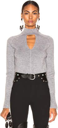 Chloé Cutout Choker Sweater in Confident Grey | FWRD