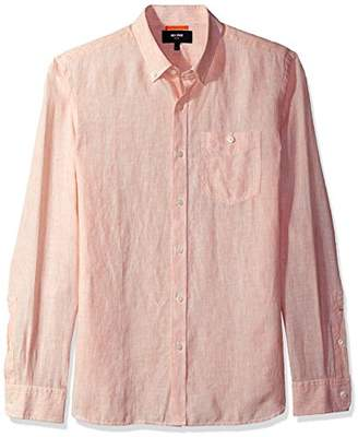 Jack Spade Men's Long Sleeve Linen Micro Stripe
