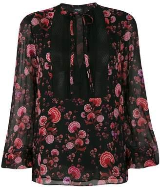 Giambattista Valli floral print tie neck blouse