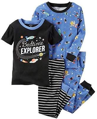 Carter's Boys' 12M-7 4 Piece Space Print Pajama Set