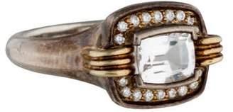 Lagos White Topaz and Diamond Ring