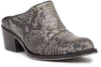 Jo Ghost Python Printed Leather Mule