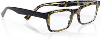 Eyebobs Fare N Square Pearlescent Readers, Black/Gold