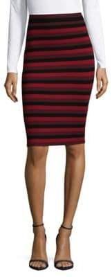 Ronny Kobo Stripe Pencil Skirt