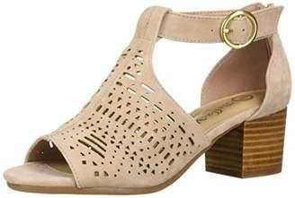 Bella Vita Women's Finn Cutout Sandal with Back Zipper Shoe