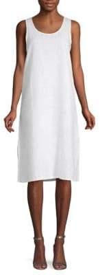 Side Slit Linen Dress