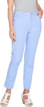 Isaac Mizrahi Live! Regular 24/7 Colored Denim 5-Pocket Ankle Jeans