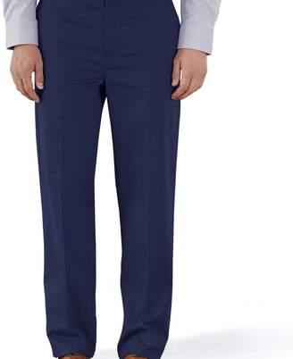 Charles Tyrwhitt Marine blue classic fit flat front non-iron chinos