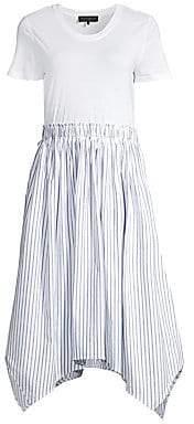 Donna Karan Women's Short Sleeve A-Line Dress