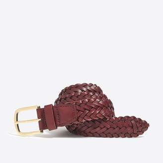J.Crew Factory Leather braided belt