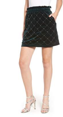Endless Rose Beaded Velvet Miniskirt