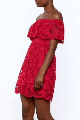 1 Funky Red Lace Dress