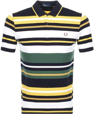 Fred Perry Bold Stripe Polo T Shirt Green