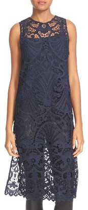 Women's Alice + Olivia Kelissa Lace Side Slit Tunic With Camisole $330 thestylecure.com