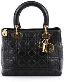 Christian Dior Pre-owned: Lady Dior Handbag Cannage Quilt Lambskin Medium.