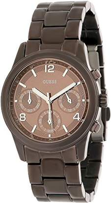 GUESS W17543L1 Women's Quartz Analogue Watch- Brown Dial - Brown Steel Bracelet