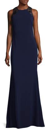 Carmen Marc Valvo Women's Lace Sequin Back Gown