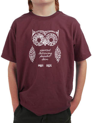 LOS ANGELES POP ART Los Angeles Pop Art Owl Graphic T-Shirt Boys