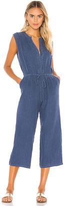Krisa Button Front Cropped Jumpsuit