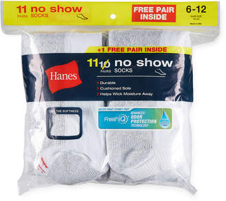 Hanes 10+1 Bouns Pair No Show Socks-Mens