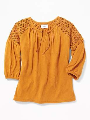 Old Navy Crochet-Lace Blouse for Girls