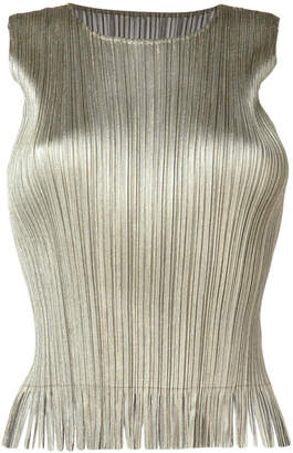 Pleats Please Issey Miyake pleated tank top