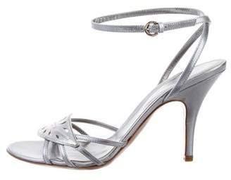 Sergio Rossi Metallic Cutout Sandals