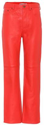 Acne Studios Leather straight leg trousers