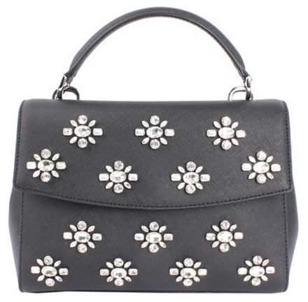 Michael Kors Ava Jewel Small Leather Satchel - Black - 30F6TAVS1O-001 - BLACK - STYLE
