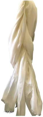 Agnona White Cashmere Scarves