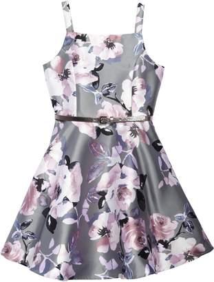 Zunie Floral Print Fit & Flare Dress