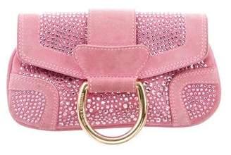 Dolce & Gabbana Embellished Suede Clutch