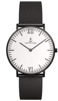 KAPTEN & SON Campus Mesh Strap Watch, 40mm