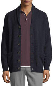 Men's Cashmere Shawl-Collar Cardigan